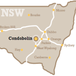 Map of Condobolin in NSW